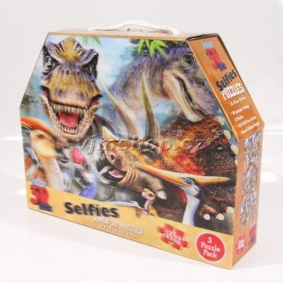 3D Puzzle Dinosauři 3v1