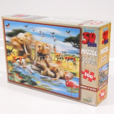 3D Puzzle Slůňata