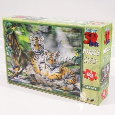3D Puzzle Tygři