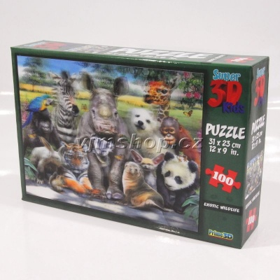 3D Puzzle Divočina