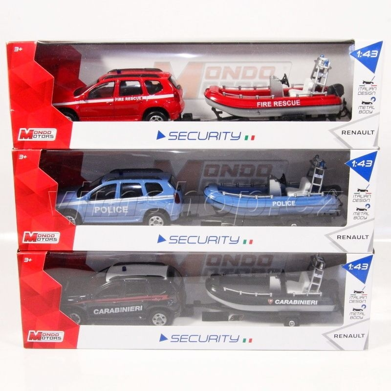 Mondo Motors Dacia Duster Security + člun - 1:43 ass.
