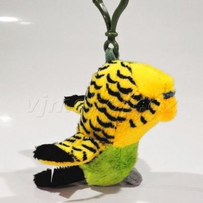 Plyšový přívěšek Andulka - žlutá 9cm