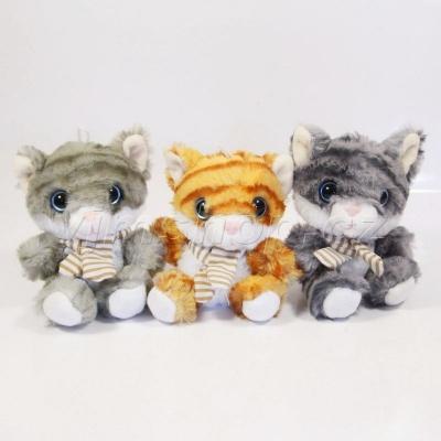 Plyšová kočička 3 druhy - 10cm