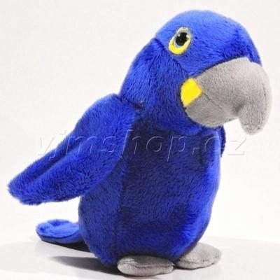 Plyšový Papoušek - modrý 16cm
