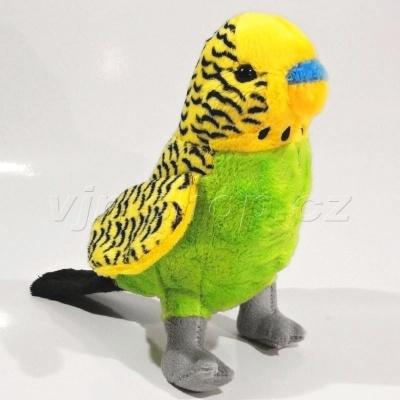 Plyšová Andulka - žlutá 18cm