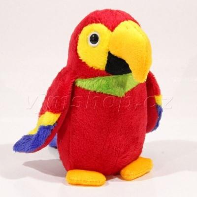 Plyšový Papoušek barevný 15cm