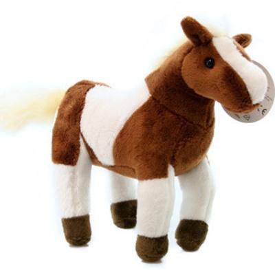 Plyšovů Kůň hnědobílý 23cm