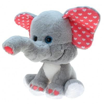 Plyšový Slon se srdíčky 30cm