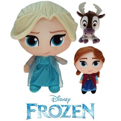 Plyšové postavičky Frozen - Elsa, Anna a Sven 18cm