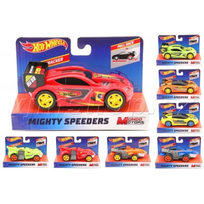 Hot Wheels Mighty Speeders 13cm Pull-Back asort