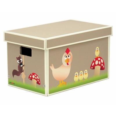 Krabice hnědá - zvířátka 33x53x31cm