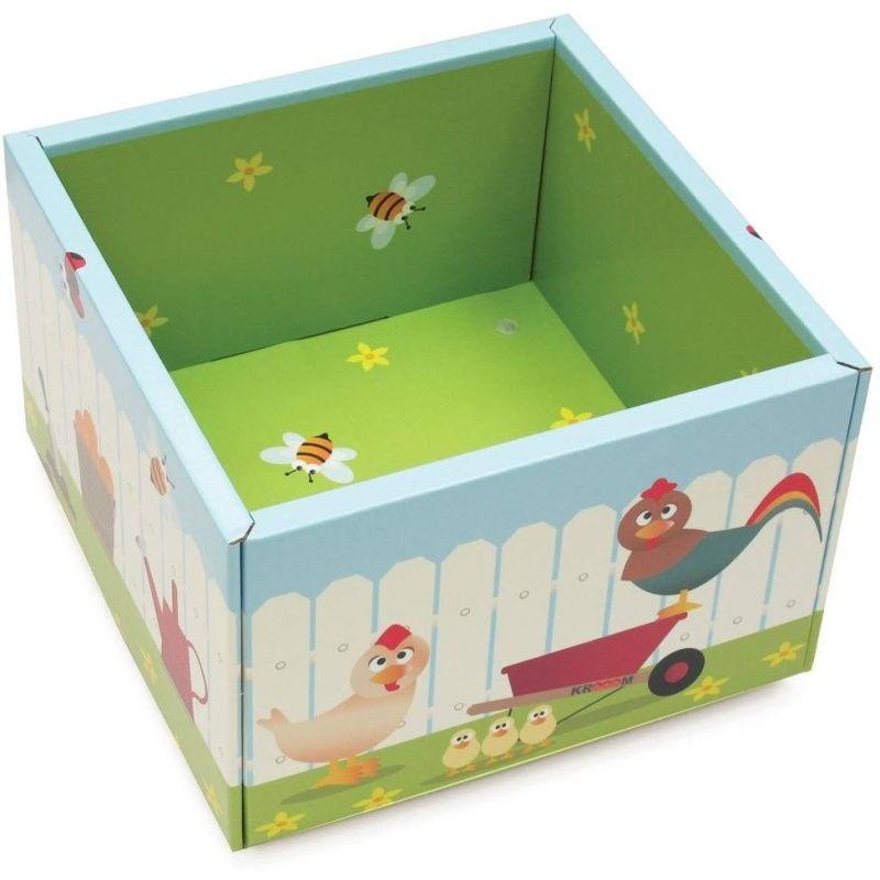 Krabice na kolečkách 42x42x28,5cm
