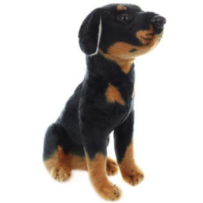 Plyš Pes černý 24cm