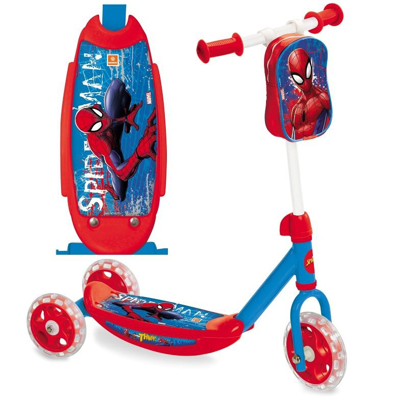 Koloběžka Spider Man dětská 3 kola