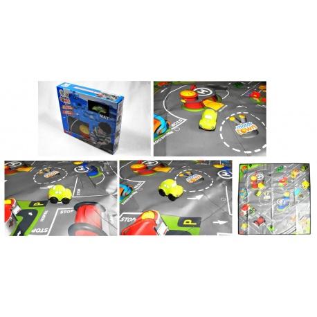 MotorTown - Omyvatelný hrací koberec + 1 auto MotorTown